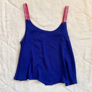 🌻 B JEWEL - blue/pink tank - junior's medium